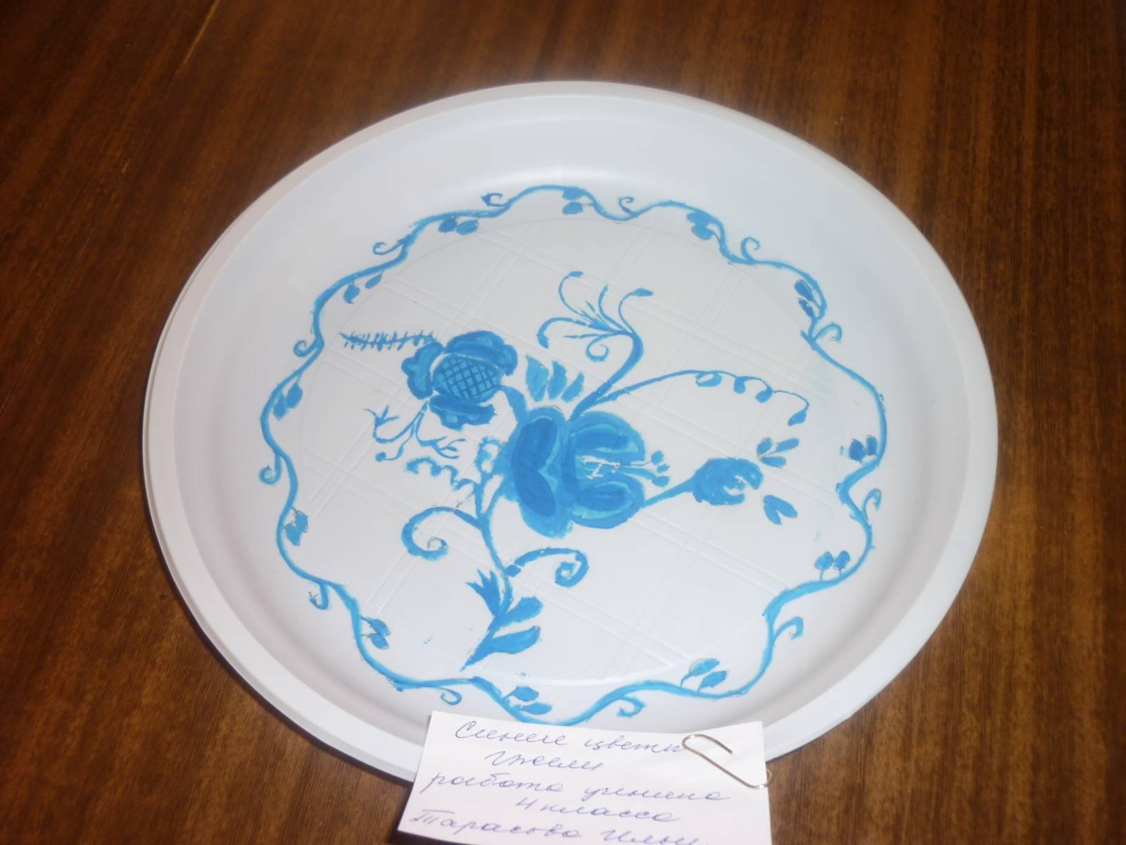 Рисунки на посуде своими руками фото 40